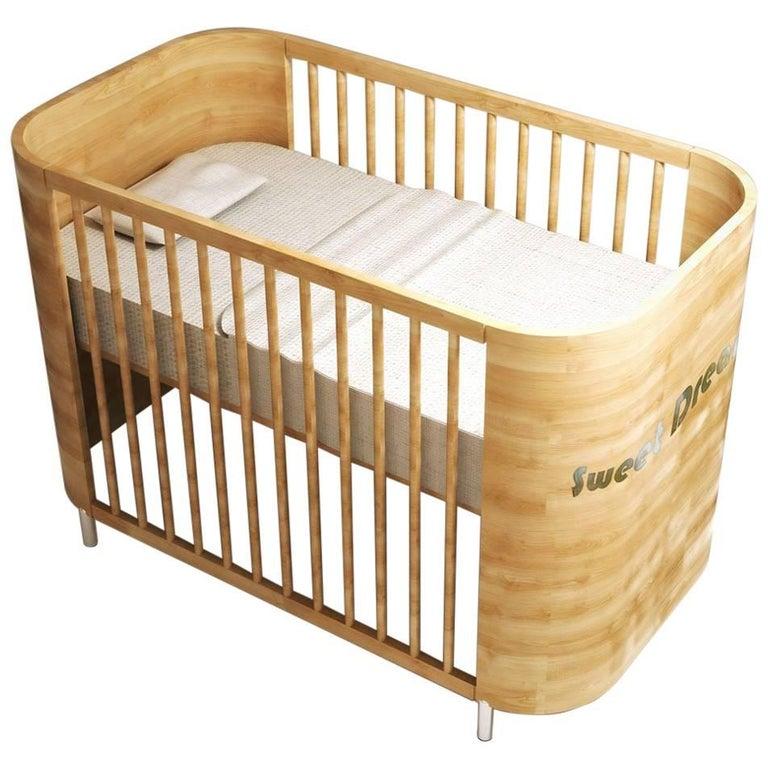 Embrace Dreams Crib in Beech Wood by MISK Nursery