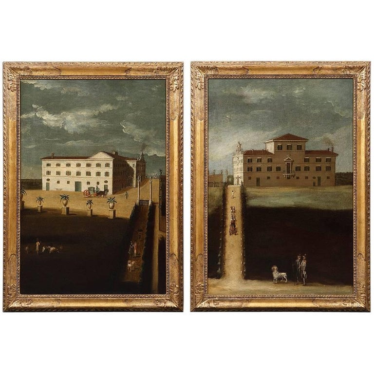 Pair of Mid-18th Century Architectural Neopolitan Views