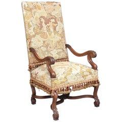 19th Century Walnut High Back Armchair