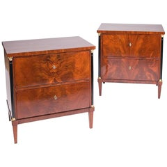 Mahogany Pair of Biedermeier Commode from circa 1820-1900