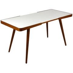 White Glass Top Coffee Table by Jiri Jiroutek for Interier Praha, 1960s