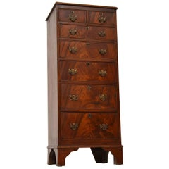 Slim Antique Mahogany Chest of Drawers