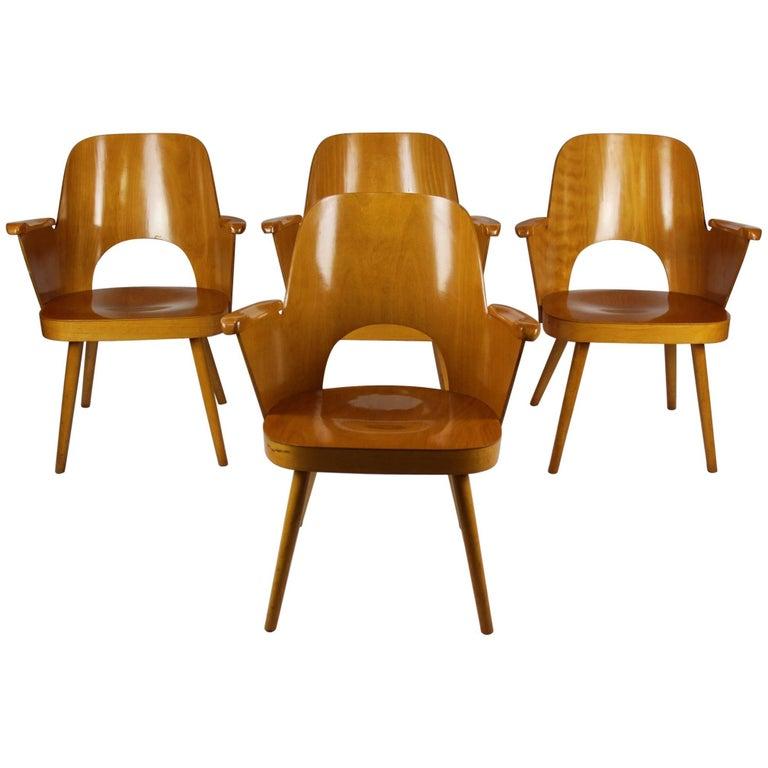 Midcentury Armchairs by Oswald Haerdtl for Ton/Thonet, 1961, Set of Four