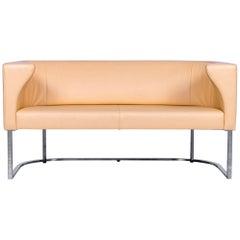 De Sede DS 207 Leather Sofa Ochre Beige Two-Seat