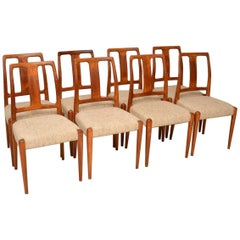 1960s Set of Eight Danish Vintage Teak Dining Chairs