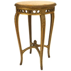 French Regence Style '19th Century' Round Giltwood End Table