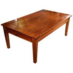 19th Century French Cherrywood Coffee Table