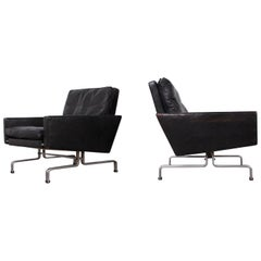 Pair of Poul Kjaerholm PK-31/1 Lounge Chairs for E. Kold Christensen