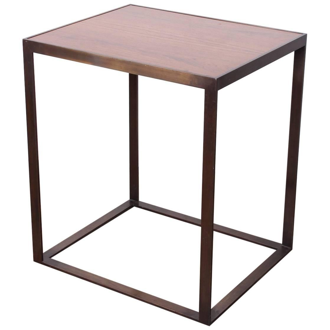 Bronze and Rosewood Pedestal/Table by Dunbar