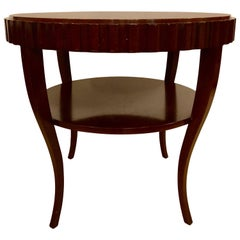 English Art Deco Style Wood Single Drawer Centre or End Table