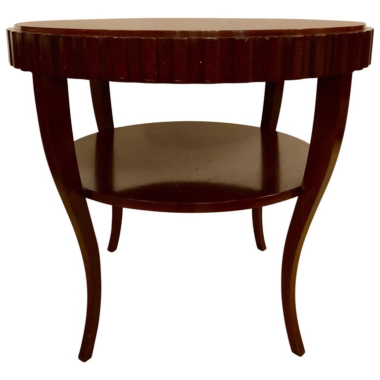English Art Deco Style Wood Single Drawer Centre or End Table For Sale