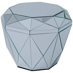 Diamonds Are Forever, Contemporary Crystal Side Table