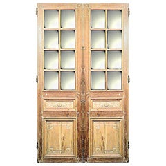 Pair of French Louis XVI Style '19th Century' Stripped Doors