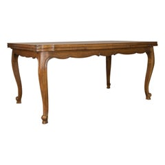 Dining Table, Draw Leaf, Extending, French Parquet Seats Ten Early 20th Century