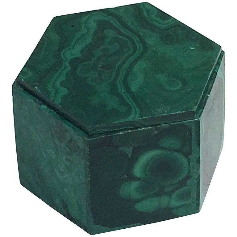 Decorative Box in Malachite