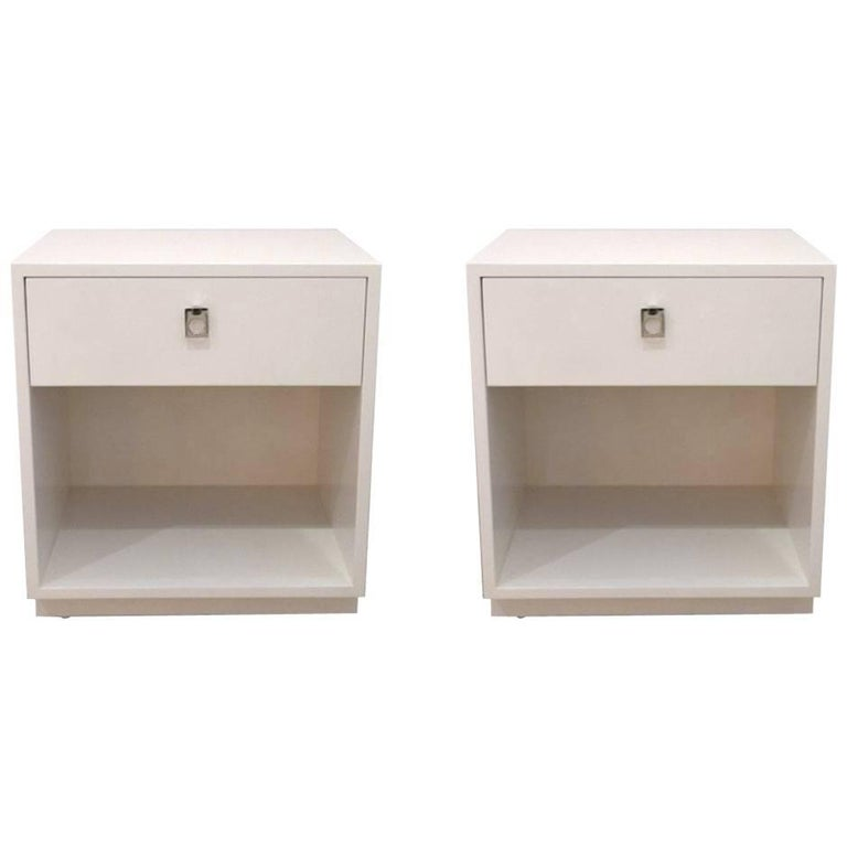 Pair of White Nightstands by Jack Cartwright for Founders Furniture