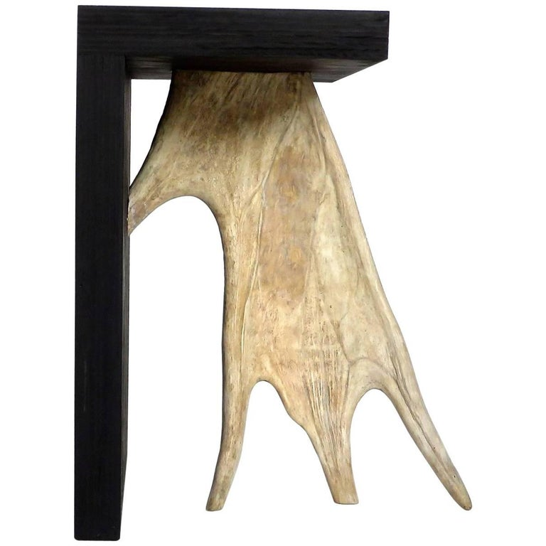 Stag T Stool by Rick Owens in Black Stained Wood