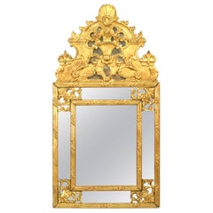 French Louis XVI Style '19th Century' Giltwood Carved Wall Mirror