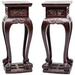 Pair of Mid-19th Century Chinese Plant Stands