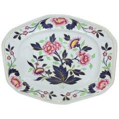Antique English J. & W. Ridgway Ironstone Hand-Painted Imari Well & Tree Platter