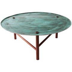 """Venus"" Mexican contemporany design. Side tables in copper hammered"