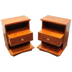 "Structural Mid-Century Modern ""Tempo"" Nightstands by Kent Coffey, Pair"