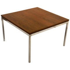American Midcentury Square Walnut Coffee Table by Knoll