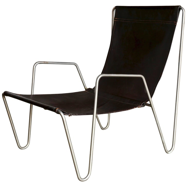 Leather 'Bachelor' Chair by Verner Panton for Fritz Hansen