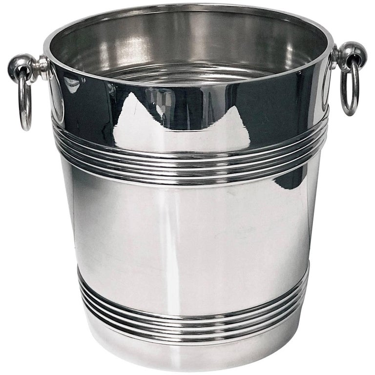 Art Deco Christofle Silver Plate Champagne Wine Bucket Cooler, France