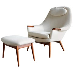 Lounge Chair and Ottoman by Gerhard Berg