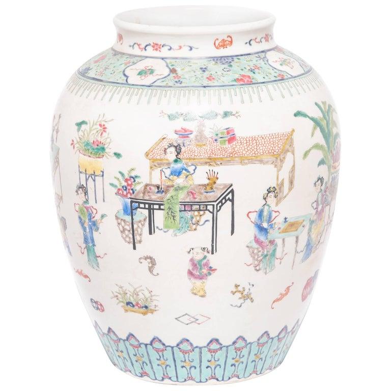 Early 20th Century Chinese Wucai Jar