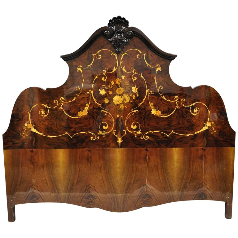 Italian Bed To Recover Or Headboard Louis Revival Uk Super