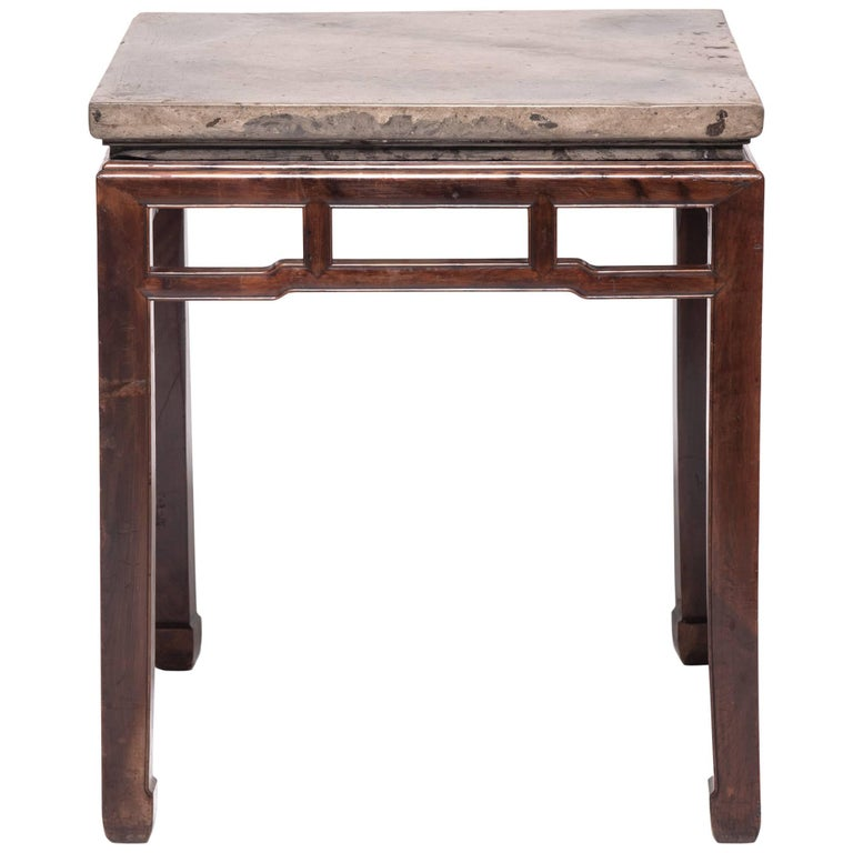 19th Century Chinese Stone Top Incense Table