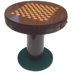Classic French Art Deco Rosewood Round Game Table, circa 1940s