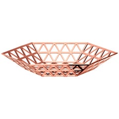 Ghidini 1961 Tip Top Flat Tray in Rose Gold Finish