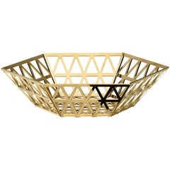 Ghidini 1961 Tip Top Medium Tray in Polished Gold Finish