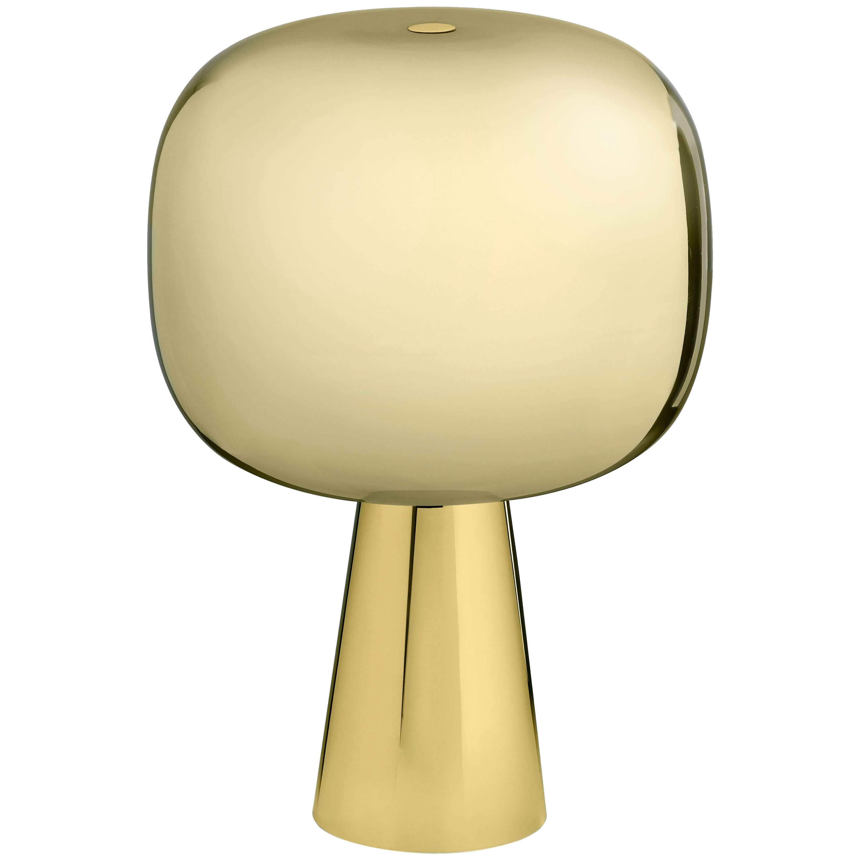 Ghidini 1961 Dusk Dawn Table Lamp C in Polished Brass Finish