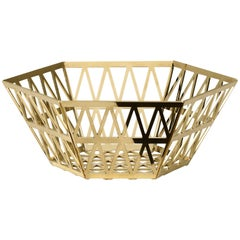 Ghidini 1961 Tip Top Tall Tray in Polished Gold Finish
