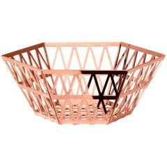 Ghidini 1961 Tip Top Tall Tray in Rose Gold Finish
