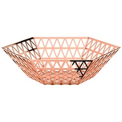 Ghidini 1961 Tip Top Centre Bowl in Rose Gold Finish