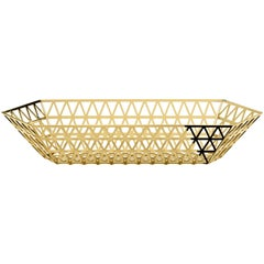 Ghidini 1961 Tip Top Limousine Tray in Polished Gold Finish