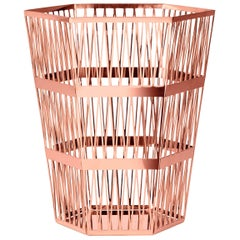 Ghidini 1961 Tip Top Small Paper Basket in Rose Gold Finish