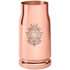 Ghidini 1961 Nowhere Bullet Vase in Rose Gold Finish