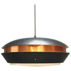 Jo Hammerborg Copper Ceiling Light by Fog & Mørup, Denmark, 1960s
