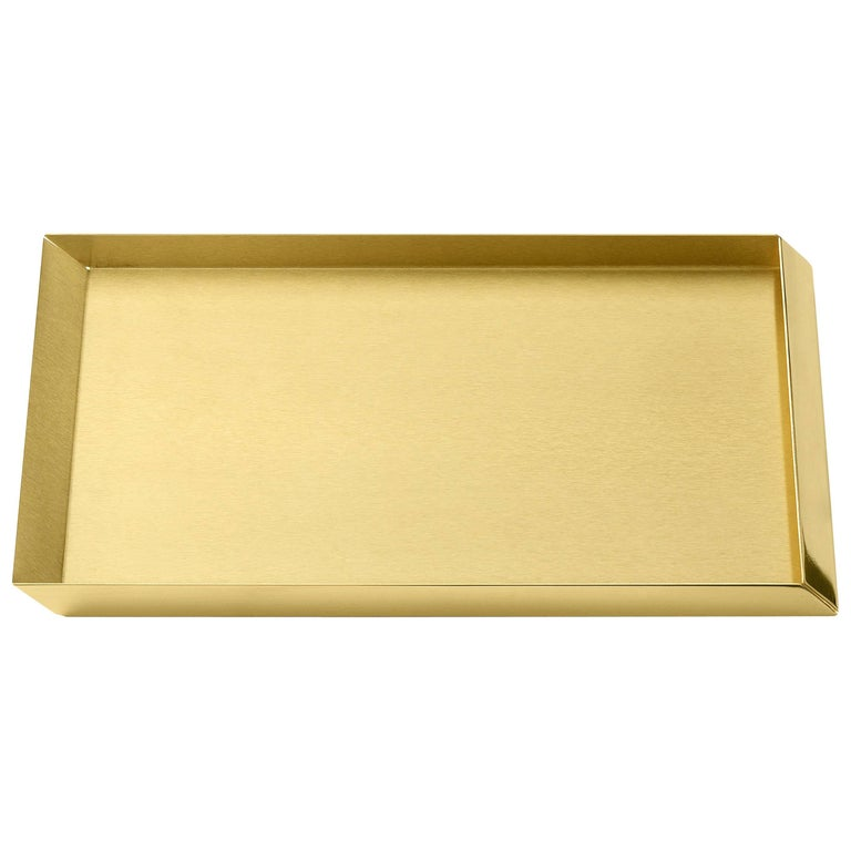 Ghidini 1961 Axonometry A4 Tray in Polished Brass