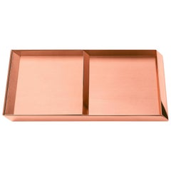 Ghidini 1961 Axonometry Trays Set in Rose Gold Finish