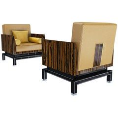 Pair of Art Deco Design Armchairs