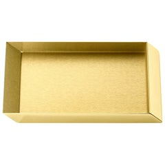 Ghidini 1961 Axonometry Rectangular Small Tray in Polished Brass