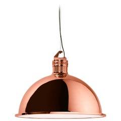 Ghidini 1961 Factory Small Suspension Light in Rose Gold Finish