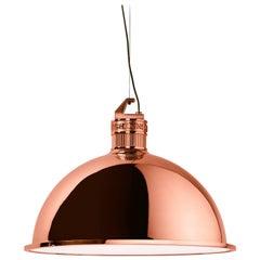 Ghidini 1961 Factory Large Suspension Light in Rose Gold Finish